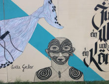 Wandbild am Bauzaun der Zentral- und Hochschulbibliothek Luzern | 2018